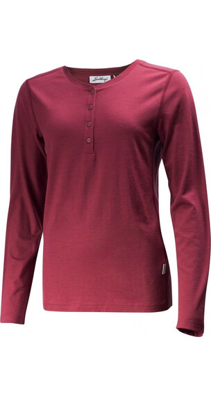 Lundhags Merino Light Henley Shirt Women Dark Red
